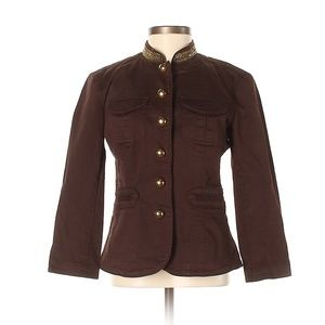 MICHAEL Michael Kors Brown Jacket Beaded Accents
